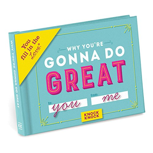 Knock Knock Why You're Gonna Do Great Fill in the Love Book Fill-in-the-Blank Gift Journal, 4.5 x 3.25-inches