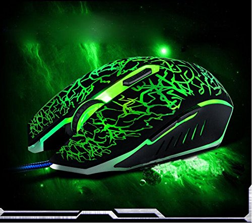 Professional Colorful Backlight 4000DPI Optical Wired Gaming Mouse Mice For Laptop Computer