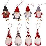 8 Piezas Muñeco Colgante de Navidad,Colgantes de Felpa de Navidad, Adorno de...