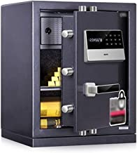 Safe Box with Combination Lock, Anti-Theft Safe L-Type Zinc Alloy Handle Storage Box with Built-in Lighting and Highly Ded...