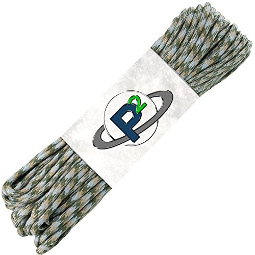 PARACORD PLANET Mil-Spec Commercial Grade 550lb Type III Nylon Paracord (Camo, 100 feet)