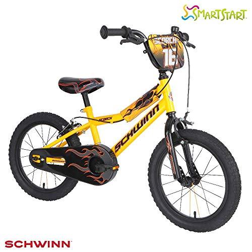 Schwinn Boys Scorch Kids Bike, Yellow/Black, 16' (Age 4+)