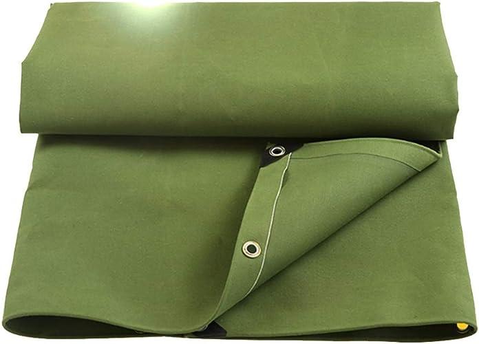 PJ Tente baches Bache pure Toile épaisse Tissu imperméable à l'eau Prougeection solaire Bache Toile imperméable à l'eau Abri d'abris 450g m2 -0.6mm 12 tailles Il est largement utilisé