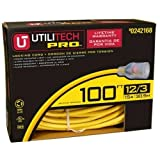 Utilitech Pro 100-ft 12/3 3-Prong Outdoor Super Heavy Duty Lighted and Locking Extension Cord