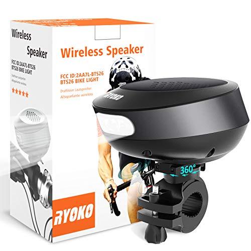 Bike Light Bluetooth Speaker, Wireless Bike Speaker with Loud Sound & Rich Bass, Bluetooth V4.1+EDR...