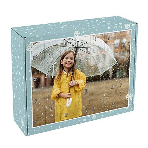 Herz & Heim® Foto-Adventskalender zum Befüllen mit Ihrem Lieblingsbild - Made in Germany - ohne Plastik gut für die Umwelt