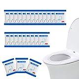 Kindpma 50pcs fundas desechables inodoro con borde elástico fundas baño wc cubiertas para asientos papel protector wc desechable impermeable antibacteriano para hospital viaje aeropuerto hotel