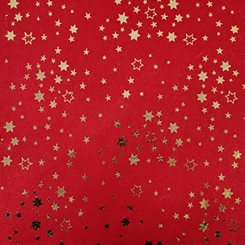 Panini Tessuti, Pannolenci Online Fantasia Natalizia - Venduto al Mezzo Metro 1 Qtà = 50 Cm; 2 Qtà = 100 Cm - Natale, Fai da Te, Hand Made