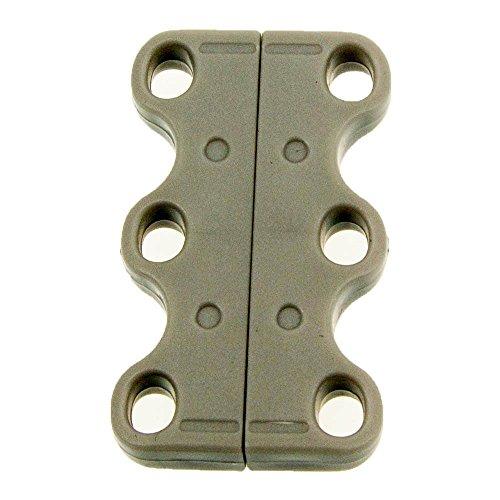 Le Care 2 Paar Magnetische Schuhbinder/Schnürsenkel-Clips, zum schnellen An- und Ausziehen von Turnschuhen 2 Paar (Grau)