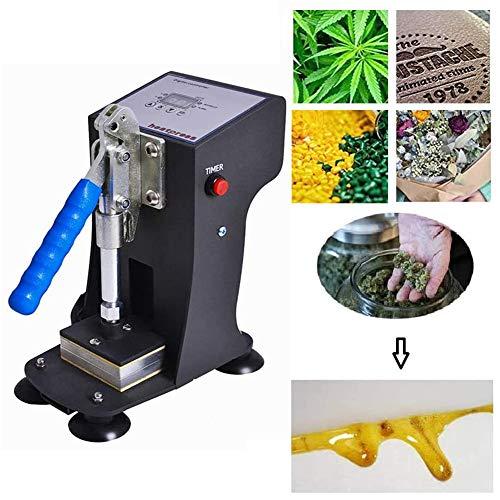 DSYYF Máquina de prensado de Calor, máquina de Calor de Doble Placa de Aluminio portátil Máquina de prensado con presión de 500 kg, máquina de extracción de Aceite de colofonia Digital