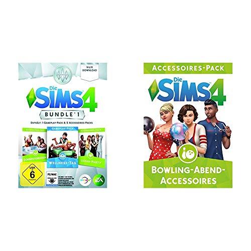 Die Sims 4 - Bundle Pack 1: Sonnenterrassen, Luxus-Party, Wellness-Tag [PC/Mac Code - Origin] & The SIMS 4 - Bowling Stuff EditionDLC [PC Code - Origin]