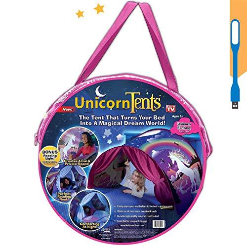 Tents Spielzelte Bettzelt Bettzelt Traumzelt Kid's Fantasy Kinder Schlafzimmer Dekoration Kinder Lesen (Einhorn)