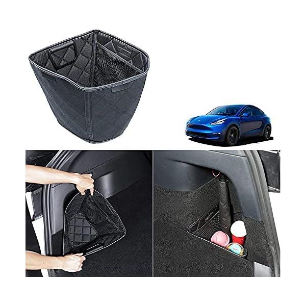 tesla model y trunk organizer storage box rear trunk side storage packets tray organizer for tesla model y 2021 2020…