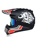 SUNSHOP Casco de Motocross, la Suciedad Adulto Motocicleta Off-Road Deporte DH Casco Enduro Hombres de Casco de la Bici ATV Quad Moto Cross Conjuntos Casco,Sprint,XL