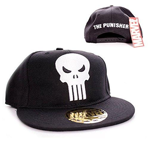 Marvel Comics The Punisher Herren Snapback Cap - Skull Logo Baseball Cap Schwarz