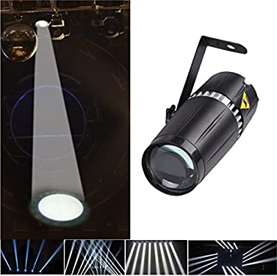 LED pinspot stage light,TOM 6W white Pin spot with beam stage light