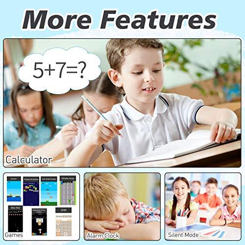 Kinder Smartwatch Telefon für Jungen Mädchen - 1,54'' Touchscreen-Handy mit Zwei Möglichkeiten Anruf SOS Taschenlampe Spiele Musik-Player Kamera Wecker als Kinder Geburtstagsgeschenk 4-12Y (SCHWARZ)