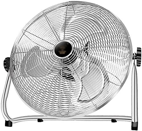 Ventilador de piso oscilante de montaje en pared Ventilador de piso industrial potente 3 velocidades 130 ° Ajustable inclinación de ángulo de inclinación Llevar mango y pies antideslizantes 50 W Adecu
