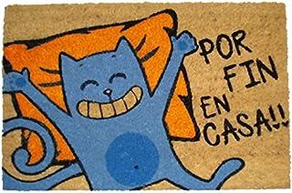 koko doormats felpudos Entrada casa Originales, Fibra de Coco y PVC, Felpudo Exterior Gato - por Fin EN CASA!!, 40x60x1.5 ...