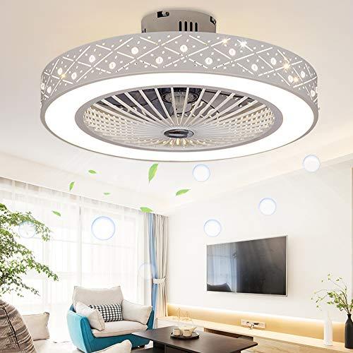 LED Deckenventilator mit Beleuchtung und Fernbedienung dimmbar 3 Farben 3 Gang Ventilator Beleuchtung Deckenleuchte 220V 36W für Wohnzimmer Schlafzimmer Küche (Ananas)