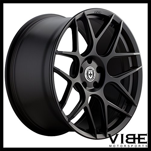 "20"" HRE Wheels FF01 Flow Form Black Concave Rims Only Set Of 4 Includes Vibe Motorsports License Plate Frames Fits Audi Q5 Sq5"