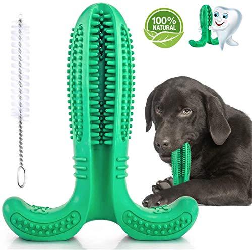 Alittle Cepillo de Dientes para Perros, Juguetes para el Cuidado Dental duraderos para Perros, Limpieza de Dientes de Goma Natural, bastoncillo para Bricolaje