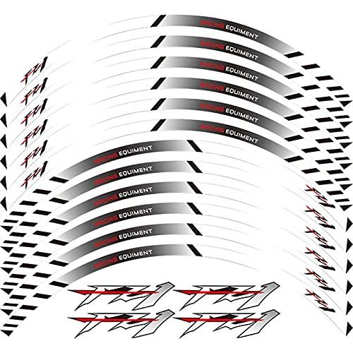 Equipo de Carreras de Motocicletas Accesorios Rueda Neumático Rim Decoración Adhesiva Adhesiva Etiqueta de calcomanía para Yamaha FZ1 FZ 1 (Color : 240251)