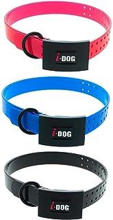 i-Dog Pack 3 Colliers Premium larg 2.5cm x Long 65cm x epaisseur 0,4cm, Boucle, 3 Coloris (Rose, Bleu, Noir)