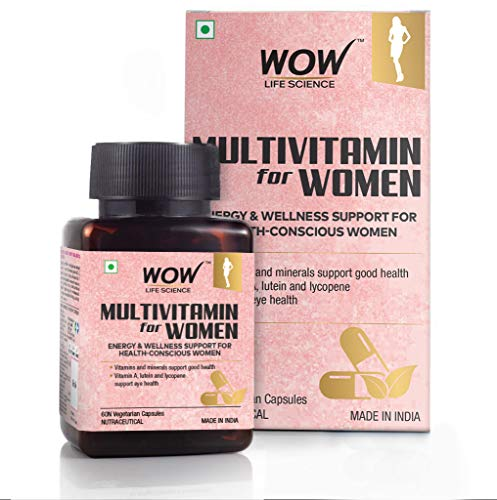 WOW Life Science Multivitamin for Women - with Vitamin A, Lutein & Lycopene - 60 Veg Capsules