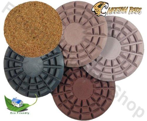 Eco Friendly Stone Polishing Pad Cheetah 8 Inch Kit of 4 Plus Monkey 11,000