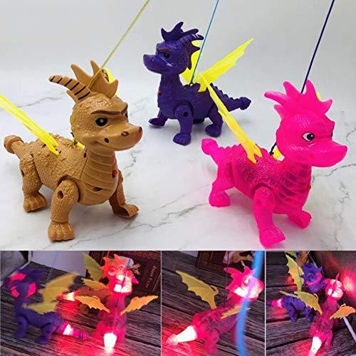 FairOnly Elektrische Leine Drachenmusik Simulationsleine Dinosaurier Kinder Puzzle-Spielzeug zufällige Farbe