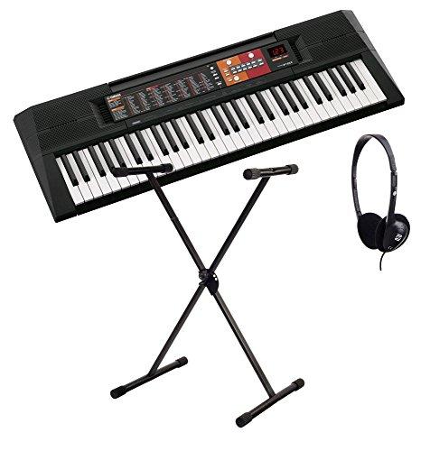 Yamaha PSR-F51 Home Keyboard, ideal für Kinder und Einsteiger, mit Begleitautomatik + Ständer + Kopfhörer