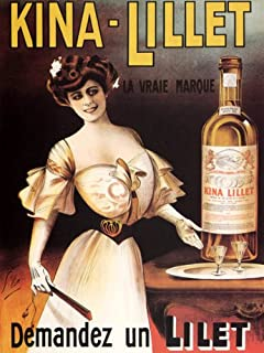 KINA LILLET FRENCH APERITIF WINE THE REAL BRAND BEAUTIFUL GIRL FRANCE 16