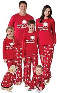 QNONAQ Navidad A Juego Pijamas Año Nuevo New Coincidencia de Navidad de la Familia Familia Pijamas Traje Padre Hija de la Madre Niño Niña Sistemas de la Ropa Pijamas Familia Look