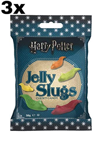 3 pack Jelly Belly Caramelo masticable, 56g Harry Potter Jelly Slugs Chewy Candy