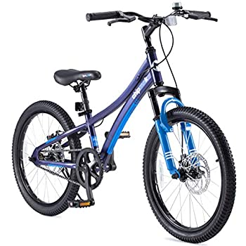 Royalbaby Boys Girls Kids Bike Explorer 20 Inch Bicycle for 7-12 Years Old Front Suspension Aluminum Child s Cycle with Disc Brakes Blue