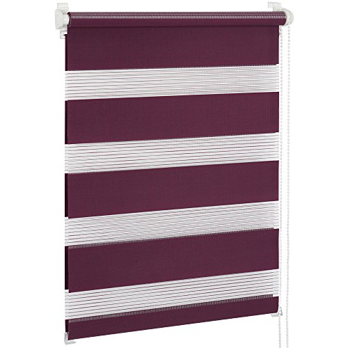 Jago Doppelrollo Seitenzugrollo Klemmrollo in verschiedenen Farben & Größen, Seitenzugrollo inkl. Montagematerial (90 x 150 cm)