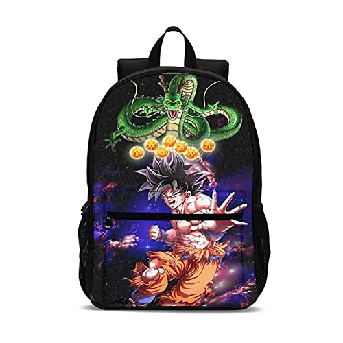 Aatensou Zaino Dragon Ball Anime Goku unisex per la scuola, impermeabile, per tutti i fan, D3, 31* 14* 47cm,