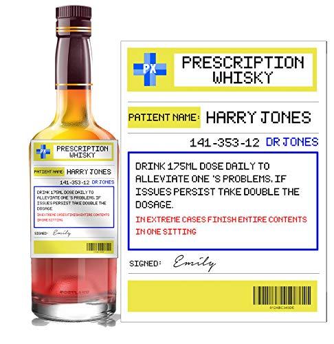 Gepersonaliseerd recept Whisky fles label op maat - elke formulering