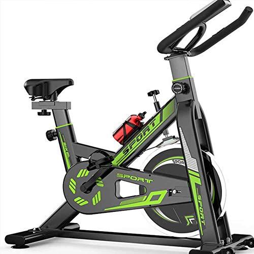 YLJYJ Bicicletas de Ejercicio magnéticas Bicicleta de Ciclismo para Interiores con transmisión por Correa estacionaria con Alta Capacidad de Peso Resistencia magnética Ajustable con Monitor LCD