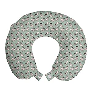 Ambesonne Multicolor Travel Pillow