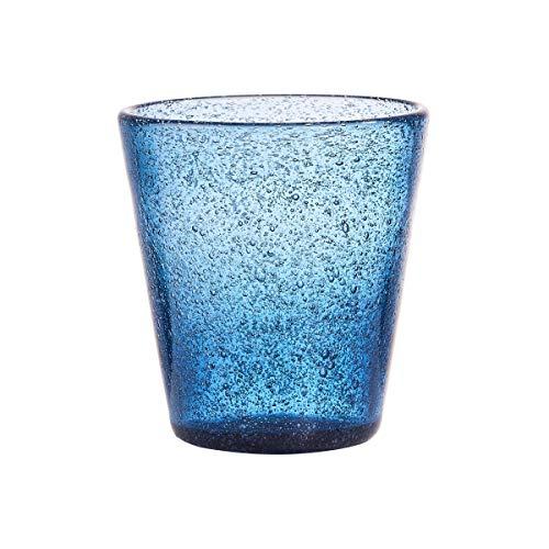 BUTLERS Water Colour Trinkglas 4er Set 290 ml in Blau - Glas-Set für 4 Personen - Bunte Wassergläser, Saftgläser