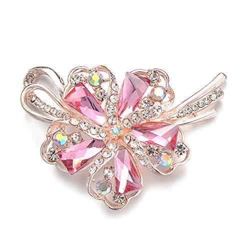 kliy - Broche de flores geométrico para mujer, elegante vestido de novia,...