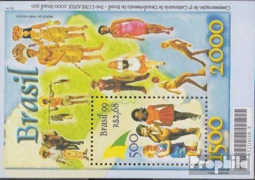Prophila Collection Brasilien Block108 (kompl.Ausg.) 1999 Entdeckung Brasiliens (Briefmarken für Sammler)