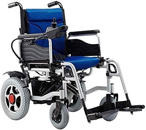 LTHDD Silla de Ruedas eléctrica for sillas de Ruedas - Silla de Ruedas eléctrica Plegable con discapacidad anciana con discapacidad automática de Cuatro Ruedas, Rojo, Rojo, Color Nombre: Rojo
