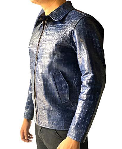 Genuine coccodrillo Alligatore pancia pelle giacca per gli uomini, uomini giacche Cappotti