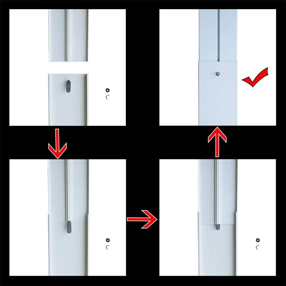 kit d/étanch/éit/é universel en PVC pour climatiseur mobile Stecto Kit dadaptateur pour fen/être coulissante max 120 cm plaque d/étanch/éit/é de fen/être r/églable