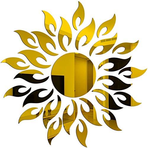 Espejos Decorativos de Pared Redondos Dorados Marca CUNYA