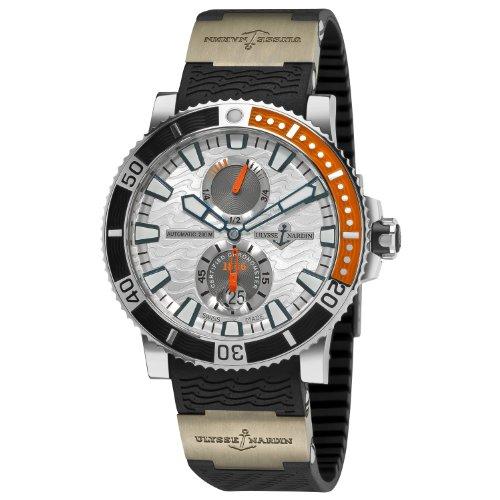 Ulysse Nardin Men's 263903/91 Maxi Marine Diver Titanium Silver Dial Titanium Watch
