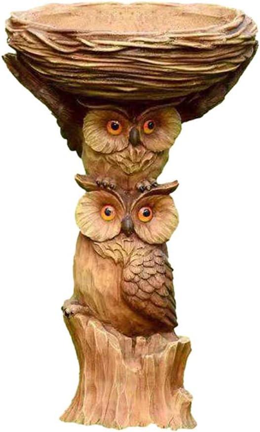 MIAOQIAN Free shipping Owl Nest Super-cheap Statue Bird Gard Outdoor Ornament Resin Feeder